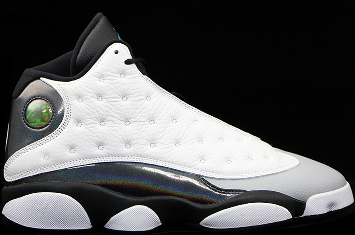 pretty nice b7cfc ea2ff Air Jordan 13 Retro White Black-Grey-Teal 414571-115. October 25, 2014